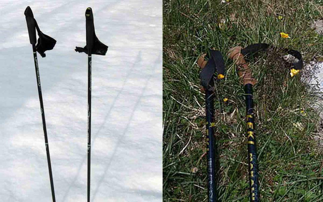 Bâtons de marche nordique et bâtons de randonnée: les différences
